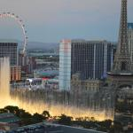 View of the Bellagio fountains (room 23032)