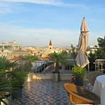 The roof terrace of the hotel