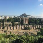 Olympic Temple of Zeus, view from room
