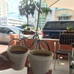 $1.50 Cuban coffee directly across Collins Ave! Cuban cigars too.