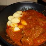 Classic veal stew with potato gnocchi