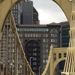 view from bridge to PNC Park