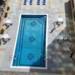The swimming pool on the 2nd floor of the Pars Hotel