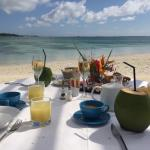 Breakfast on the beach at LUX Belle Mare