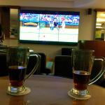 beers and TV at the Sports bar