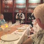 Special dinner at the wine cellar...explaining about the wines.