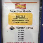 shuttle to and from Universal Studios