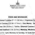 Marquis Restaurant Hours