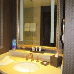 The bathroom--always important in a hotel room!