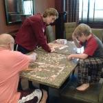 puzzle time in another part of the common area