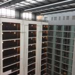 View from the 12th floor across the atrium to the rooms on the other side