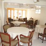 Dining area can be used for private meetings seats 40 persons.