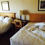 Filthy unclean room. This is how we found it when we checked in and was told they were to busy t