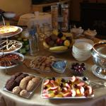 Breakfast in the drawing room/library