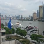 View from Hotel Restaurant to Huangpu river