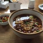 Beef noodle soup with pickled vegetables