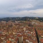 The view at the roof top, can see the Palazzo Vecchio