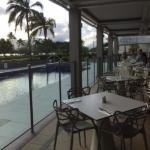 pool view from dining