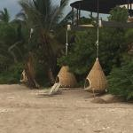 Pods for relaxing on the beach