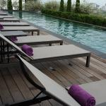 Saltwater pool at G Hotel Kelawai... cross usage of facilities for G Hotel Penang guests