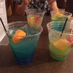 A couple of the fantastic free drinks made by Billy.