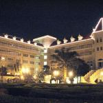 Rooms view  of HK Disneyland Hotel at night