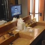TV over the sinks