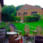 outdoor seating near vineyard