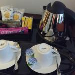 Kettle, drinks and snacks