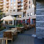 Outdoor patio for summer or winter snacks & aperitifs