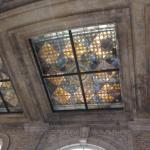 Beautiful stained glass ceiling at The Georgian Terrace Hotel