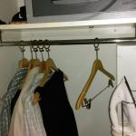 Lack of cupboard space and hangers