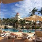 Riu Palace - view from quiet pool