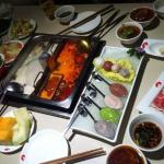 different dishes in the hai di lao resraurant