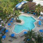 Picture of the pool area from our balcony