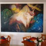 Art in dining room