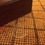Mystery white stains on carpet in several places
