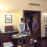 With Jini Jacob ( Asst Housekeeper) and Abhishek Kumar in my Deluxe Suite room