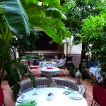 Dining in the centre of the Riad