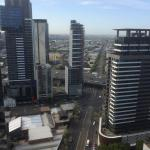 View of Melbourne from the apartment on the 29th floor.