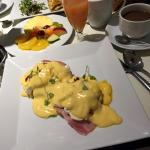 Egg Benedict, ordered from menu
