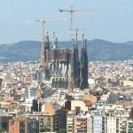 Sagrada Familia seen from the hotel rooftop pool