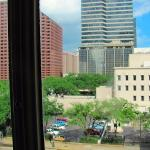 """Tall office builds block river view but St. Charles streetcar stop is right below (""""X"""")"""