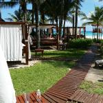 The pathway and the (free!) cabana beds