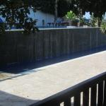 The side view of the pool.