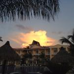 sunset cloud over hotel