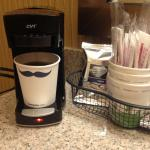 I get a kick out of the mustache cups at the Hampton Inn.