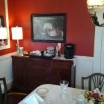 Dining room buffet table.