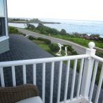 View from the balcony looking towards the Bush compound