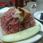 The corned beef with house made pickle